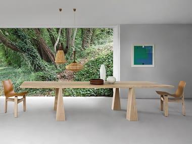 Tavolo rettangolare in legno INCAS | Tavolo in legno