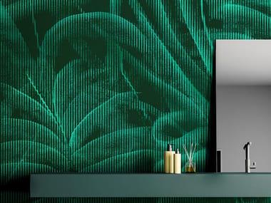 Papel de parede lavável tropical livre de PVC INCENSE