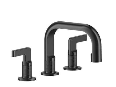 3 hole brass washbasin mixer without waste INCISO- | 3 hole washbasin mixer