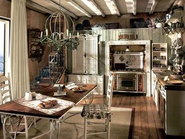 Cucina componibile in legno massello INCONTRADA - COMPOSIZIONE 01