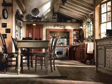 Cucina componibile in legno massello INCONTRADA - COMPOSIZIONE 03