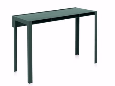 Powder coated steel console table INDEX