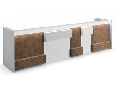 Melamine Office reception desk INDUSTRIAL