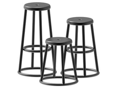Painted metal stool INDUSTRIAL