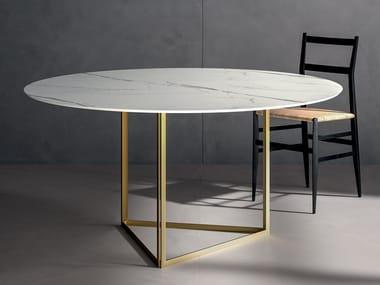 Porcelain stoneware Table Top INFINITO 2.0 CALACATTA WHITE | Table Top