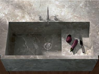 Top cucina in gres porcellanato effetto marmo INFINITO 2.0 FIOR DI BOSCO | Top cucina