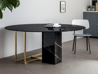 Porcelain stoneware Table Top INFINITO 2.0 SAHARA NOIR | Table Top