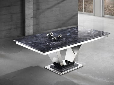 Crystal Stone® and stainless steel coffee table INFINITY   Coffee table