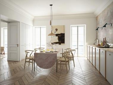 Wooden kitchen with handles INGARÖ | Kitchen
