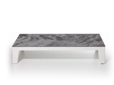 Low porcelain stoneware coffee table INOUT 155 | Porcelain stoneware coffee table