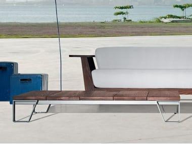 Low rectangular garden side table INOUT 955 | Teak coffee table