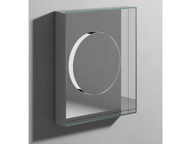 Rectangular wall-mounted mirror with cabinet INSIDE