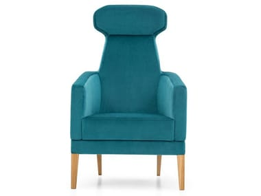 High-back fabric armchair INTAMO L