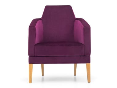 Fabric armchair with armrests INTAMO M