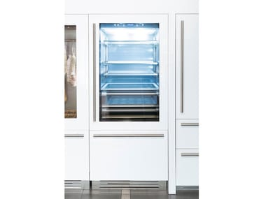 Refrigerator with glass door with freezer INTEGRATED 90 - S8990TGT