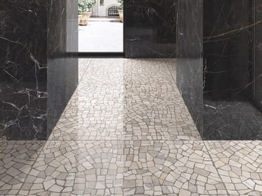 Porcelain stoneware wall/floor tiles with marble effect INTERNO4 PALLADIANA LIGHT