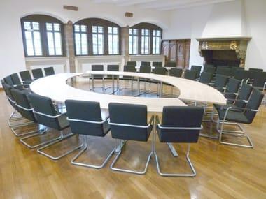 Tavolo da conferenza modulare in legno .INTRA | Tavolo da conferenza ovale