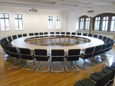 Table de conférence modulable en bois .INTRA | Table de conférence ronde