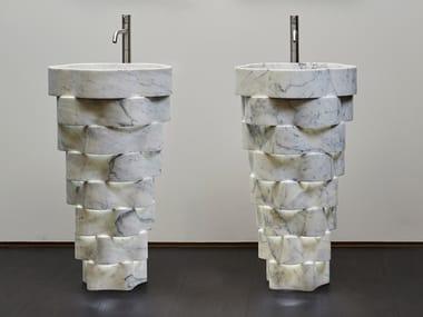 Lavabo freestanding in marmo INTRECCIO
