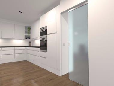 Invisible frame for glass pocket sliding door ARGENTA® INVISIDOOR® SDX Glas
