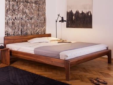 Solid wood bed double bed INVITO | Bed