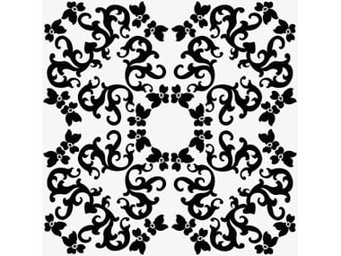 Ceramic wall tiles IRIS 1 NERO