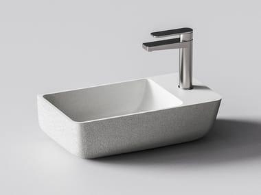 Wall-mounted quartz sand handrinse basin IRIS