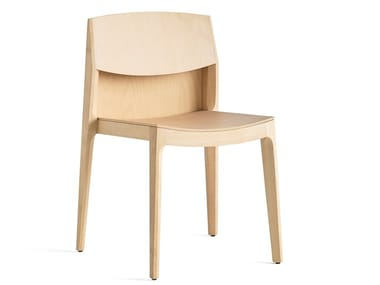 Stackable wooden chair ISA 140