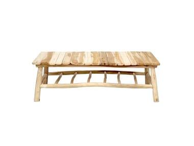 Tavolino in teak con portariviste ISLAND