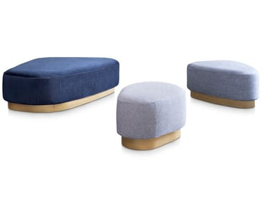 Upholstered fabric pouf ISLAND