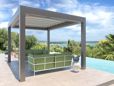 Freestanding pergola with sliding cover ISOLA 3 | Freestanding pergola