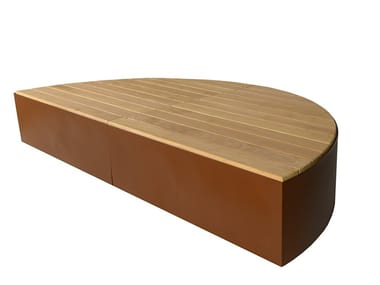 Curved wooden Bench ISOLA I