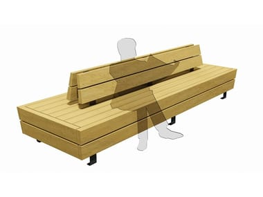 Wooden Bench with back ISOLA V
