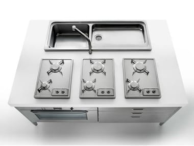 Mini cuisine en acier inoxydable ISOLE CUCINA 190 | Mini cuisine