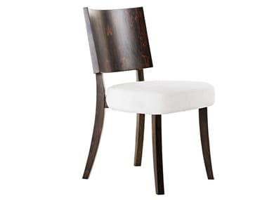 Open back wooden chair ISOTTA