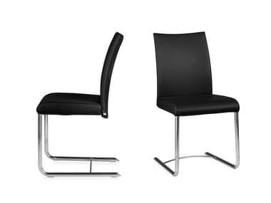 Cantilever leather chair ISOTTA