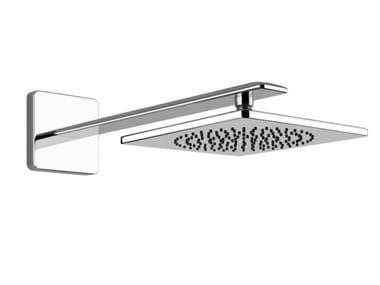 Tête de douche mural carrée en laiton chromé avec bras ISPA | Tête de douche