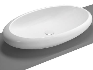 Vasque à poser ovale en céramique ISTANBUL | Vasque à poser