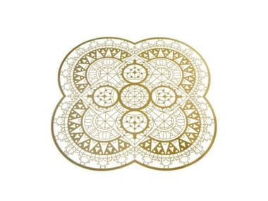 Square brass placemat ITALIC LACE   Placemat