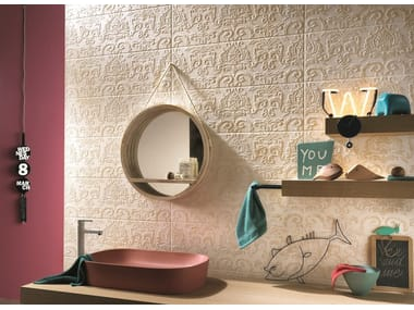 Indoor white-paste wall tiles COUTURE  Ivoire Arabesque