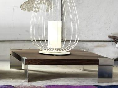 Low wood veneer coffee table for living room IZU