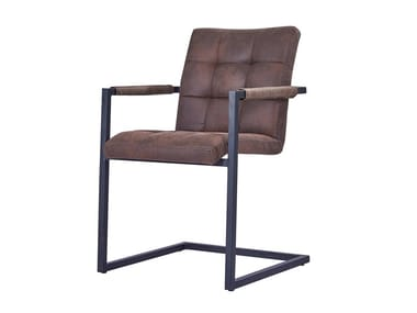 Cantilever upholstered chair with armrests J253 | Chair
