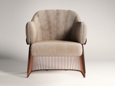 Velvet armchair with armrests JACKIE | Armchair