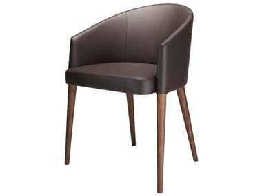 Upholstered leather chair JAIA