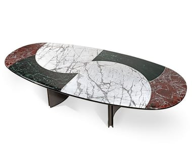 Oval marble living room table JASON | Oval table