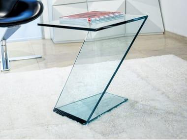 Tavolino quadrato in vetro JAZZ | Tavolino
