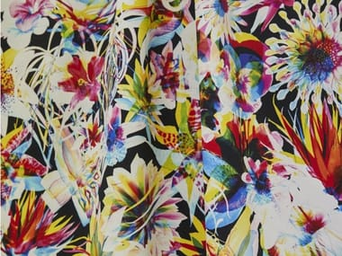 Printed cotton fabric with floral pattern JEAN PAUL GAULTIER - HAWAÏ