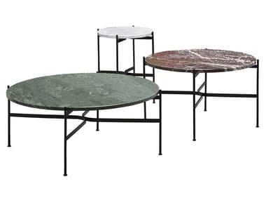 Tavolino basso rotondo in marmo JEANETTE | Tavolino in marmo