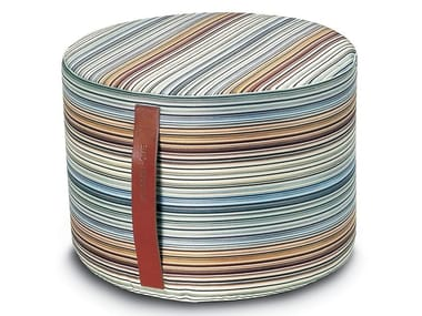 Pouf-cilindro in reps di puro cotone JENKINS | Pouf rotondo