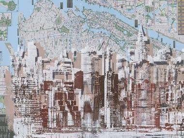 Papel de parede gomado com mapa com paisagem JERSEY